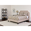 Flash Furniture Brighton Queen Size Tufted Upholstered Platform Bed in Beige Fabric Thumbnail 4
