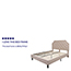 Flash Furniture Brighton Queen Size Tufted Upholstered Platform Bed in Beige Fabric Thumbnail 2