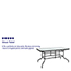 "Flash Furniture Table, Tempered Glass/Metal, 31.5"" x 55"" Thumbnail 2"