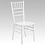 Flash Furniture HERCULES Series White Wood Chiavari Chair Thumbnail 1