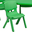 Flash Furniture Rectangular Height Adjustable Activity Table Set with 6 Chairs, Plastic, Green, 24'' W x 48'' L Thumbnail 6