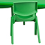 Flash Furniture Rectangular Height Adjustable Activity Table Set with 6 Chairs, Plastic, Green, 24'' W x 48'' L Thumbnail 5