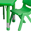 Flash Furniture Rectangular Height Adjustable Activity Table Set with 6 Chairs, Plastic, Green, 24'' W x 48'' L Thumbnail 4