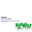 Flash Furniture Rectangular Height Adjustable Activity Table Set with 6 Chairs, Plastic, Green, 24'' W x 48'' L Thumbnail 2