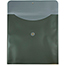 "JAM Paper® Plastic Envelopes with Button & String Tie Closure, Square, 13"" x 13"", Metallic Dark Green, 12/PK Thumbnail 2"