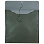 "JAM Paper® Plastic Envelopes with Button & String Tie Closure, Square, 13"" x 13"", Metallic Dark Green, 12/PK Thumbnail 3"