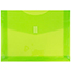 """JAM Paper® Plastic Expansion Envelopes with Hook & Loop Closure, Letter Booklet, 9 3/4"""" x 13"""", Lime Green, 12/PK Thumbnail 1"""