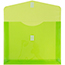 """JAM Paper® Plastic Expansion Envelopes with Hook & Loop Closure, Letter Booklet, 9 3/4"""" x 13"""", Lime Green, 12/PK Thumbnail 2"""