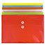 """JAM Paper Plastic Envelopes with Button & String Tie Closure, Legal Booklet, 9 3/4"""" x 14 1/2"""", Assorted Primary Colors, 12/PK Thumbnail 3"""