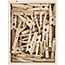 "JAM Paper® Wood Clothespins, 1 1/8"", Natural Brown, 50/PK Thumbnail 2"
