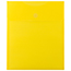 "JAM Paper® Plastic Expansion Envelopes with Hook & Loop Closure, Letter Open-End, 9 3/4"" x 11 1/2"", Yellow, 12/PK Thumbnail 1"