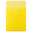 "JAM Paper® Plastic Expansion Envelopes with Hook & Loop Closure, Letter Open-End, 9 3/4"" x 11 1/2"", Yellow, 12/PK Thumbnail 2"