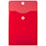 """JAM Paper Plastic Expansion Envelopes with Hook & Loop Closure, Letter Open-End, 9 3/4"""" x 11 1/2"""", Red, 12/PK Thumbnail 2"""