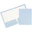 JAM Paper® Laminated Two-Pocket Glossy Folders, Baby Blue, 25/PK Thumbnail 1