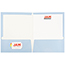 JAM Paper® Laminated Two-Pocket Glossy Folders, Baby Blue, 25/PK Thumbnail 3