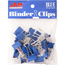 JAM Paper® Binder Clips, Small 19mm, Blue , 25/Pack Thumbnail 1