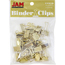 JAM Paper® Binder Clips, Small, 19mm, Gold, 25/Pack Thumbnail 1