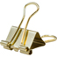 JAM Paper® Binder Clips, Small, 19mm, Gold, 25/Pack Thumbnail 2
