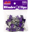 JAM Paper® Binder Clips, Small 19mm, Purple, 25/Pack Thumbnail 1