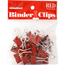 JAM Paper Binder Clips, Small 19mm, Red , 25/Pack Thumbnail 1