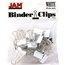 JAM Paper® Binder Clips, Small 19mm, White, 25/Pack Thumbnail 1