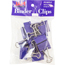 JAM Paper® Binder Clips, Medium 32mm, Purple, 15/Pack Thumbnail 1