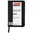 "JAM Paper® Hardcover Notebook with Elastic Band, 3 3/4"" x 5 5/8"", Black, 100 Lined Sheets Thumbnail 2"