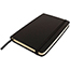 "JAM Paper® Hardcover Notebook with Elastic Band, 3 3/4"" x 5 5/8"", Black, 100 Lined Sheets Thumbnail 3"