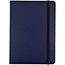 """JAM Paper Hardcover Notebook with Elastic Band, 5"""" x 7"""", Blue, 100 Lined Sheets Thumbnail 1"""