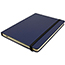 """JAM Paper Hardcover Notebook with Elastic Band, 5"""" x 7"""", Blue, 100 Lined Sheets Thumbnail 3"""