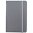 "JAM Paper® Hardcover Notebook with Elastic Band, 5 7/8"" x 8 1/2"", Gray, 100 Lined Sheets Thumbnail 1"