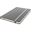 "JAM Paper® Hardcover Notebook with Elastic Band, 5 7/8"" x 8 1/2"", Gray, 100 Lined Sheets Thumbnail 2"