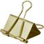 JAM Paper Binder Clips, Large 41mm, Gold, 12/Pack Thumbnail 2