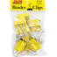 JAM Paper® Binder Clips, Large 41mm, Yellow, 12/Pack Thumbnail 1