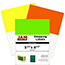 """JAM Paper Shipping Labels, Half Page, 5 1/2"""" x 8 1/2"""", Assorted Bright Neon Colors, 150/PK Thumbnail 1"""