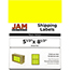 """JAM Paper Shipping Labels, Half Page, 5 1/2"""" x 8 1/2"""", Assorted Bright Neon Colors, 150/PK Thumbnail 2"""