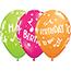 "JAM Paper® Party Balloons, 12"" Latex, Bright Birthday Assortment, 36/PK Thumbnail 1"