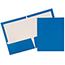 JAM Paper® Laminated Two-Pocket Glossy Folders, Blue, 100/CT Thumbnail 1