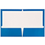 JAM Paper® Laminated Two-Pocket Glossy Folders, Blue, 100/CT Thumbnail 2