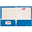JAM Paper® Laminated Two-Pocket Glossy Folders, Blue, 100/CT Thumbnail 3