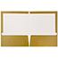 JAM Paper® Laminated Two-Pocket Glossy Folders, Gold, 100/CT Thumbnail 2