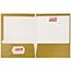 JAM Paper® Laminated Two-Pocket Glossy Folders, Gold, 100/CT Thumbnail 3