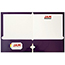JAM Paper Laminated Two-Pocket Glossy 3 Hole Punch Folders, Purple, 25/PK Thumbnail 2