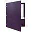 JAM Paper Laminated Two-Pocket Glossy 3 Hole Punch Folders, Purple, 25/PK Thumbnail 3