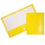 JAM Paper Laminated Two-Pocket Glossy 3 Hole Punch Folders, Yellow, 25/PK Thumbnail 1