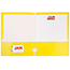 JAM Paper Laminated Two-Pocket Glossy 3 Hole Punch Folders, Yellow, 25/PK Thumbnail 2