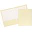 JAM Paper Laminated Two-Pocket Glossy Folders, Ivory, 50/PK Thumbnail 1
