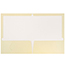 JAM Paper Laminated Two-Pocket Glossy Folders, Ivory, 50/PK Thumbnail 2