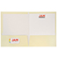 JAM Paper Laminated Two-Pocket Glossy Folders, Ivory, 50/PK Thumbnail 3