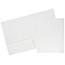 JAM Paper Laminated Two-Pocket Glossy Folders, White, 100/CT Thumbnail 1